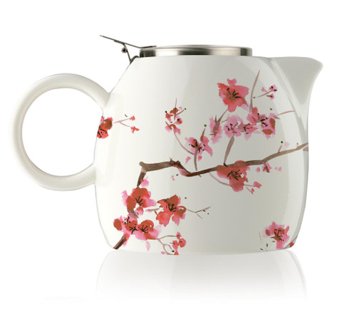 Tea Fortē Cherry Blossoms PUGG Ceramic Teapot & Infuser - 24 oz.