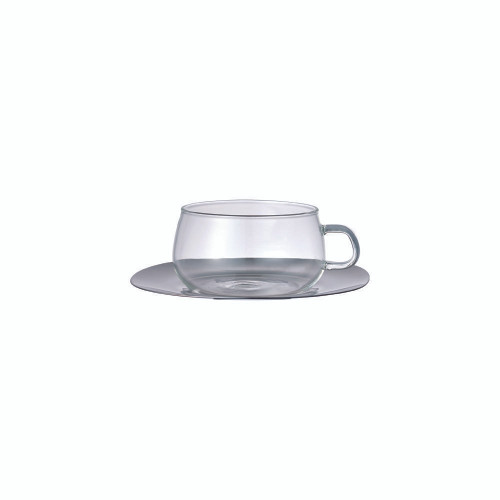 KINTO UNITEA Cup & Saucer - Stainless Steel
