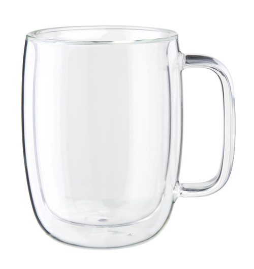 Zwilling Double Wall Latte Glass Mugs (15oz) - Set of 2 - Sorrento