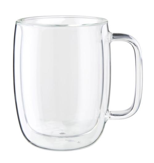 Zwilling Double Wall Latte Glass Mugs (15oz) - Set of 2 - Sorrento