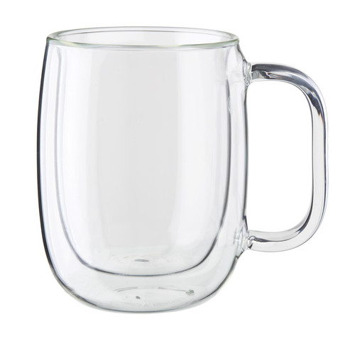 Zwilling Double Wall Coffee Glass Mugs (12oz) - Set of 2 - Sorrento Plus