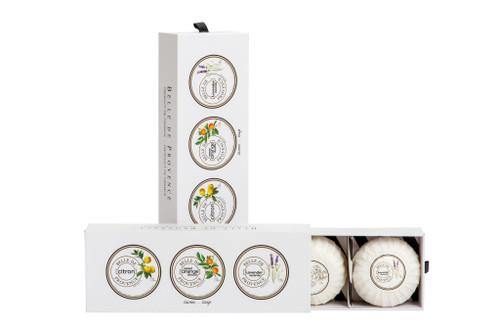Lothantique Belle de Provence Soap Gift Box (Citron/Sweet Orange/Lavender) - 100g