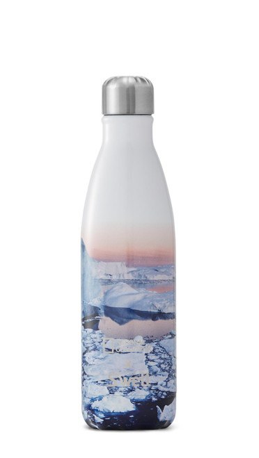 S'well Stainless Steel Water Bottle - National Geographic x S'well - Arctic (17 oz)