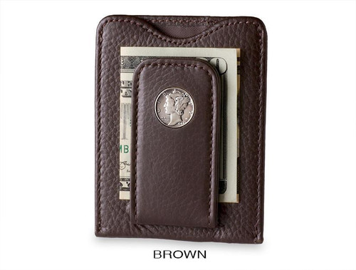 Tokens & Icons Mercury Dime Money Clip Brown
