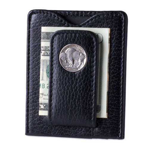 Tokens & Icons Buffalo Nickel Money Clip - Black