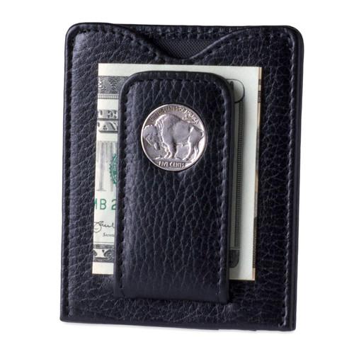 Tokens & Icons Buffalo Nickel Money Clip - Black