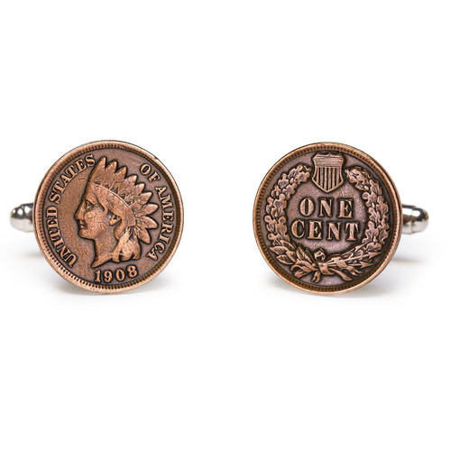 Tokens & Icons Indian Head Penny Cuff Links
