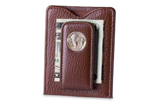 Tokens & Icons Buffalo Nickel Money Clip Tan