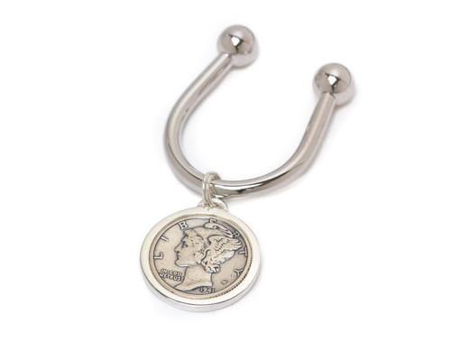 Tokens & Icons Mercury Dime Key Ring