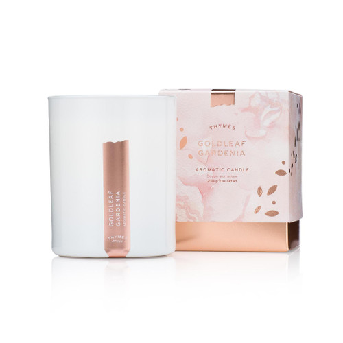 Thymes Goldleaf Gardenia Candle 9.0 oz