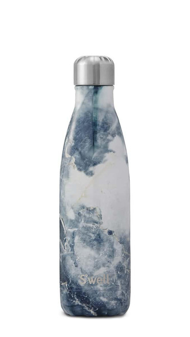 S'well Stainless Steel Water Bottle - Blue Granite (17oz)