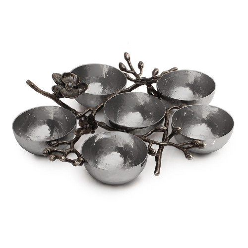 Black Orchid 6-Compartment Plate