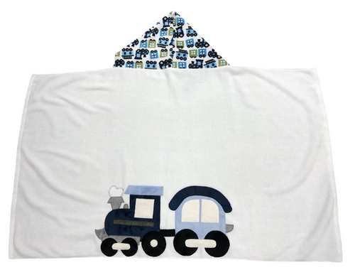KokoBaby Hooded Infant Towel - Train