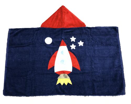 KokoBaby Hooded Infant Towel - Space Ship