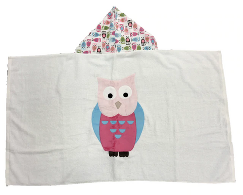 Hooded Towel - Owls