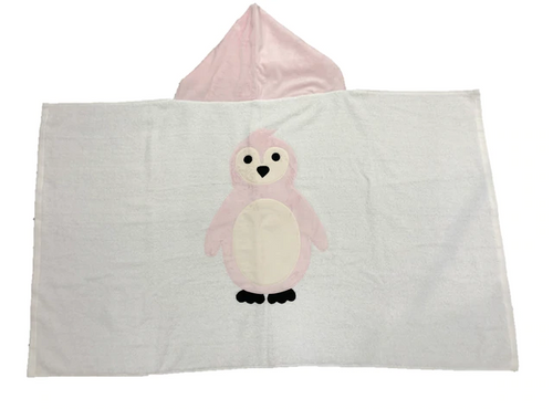 KokoBaby Hooded Infant Towel - Penguin
