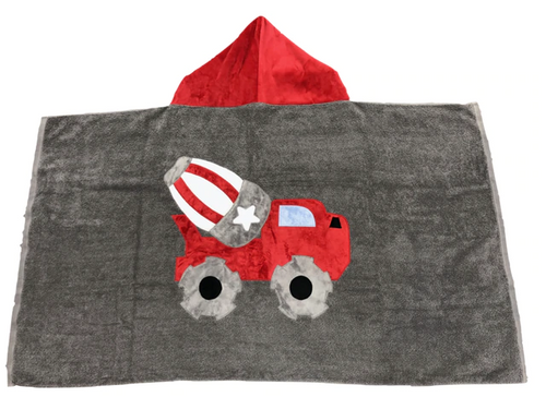 KokoBaby Hooded Infant Towel - Cement Truck
