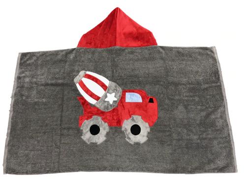 KokoBaby Hooded Infant Towel - Cement Truck