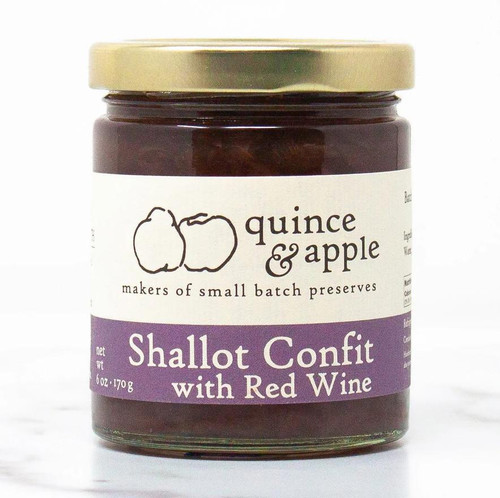 Shallot Confit with Red Wine Preserves - 6oz Jar