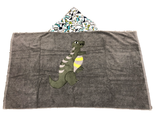 Hooded Towel - Dinosaurs