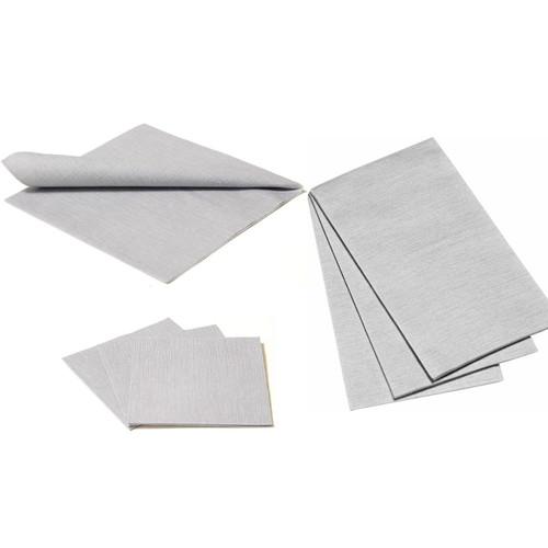 Deluxe Napkins - Silver Grey, 25pcs