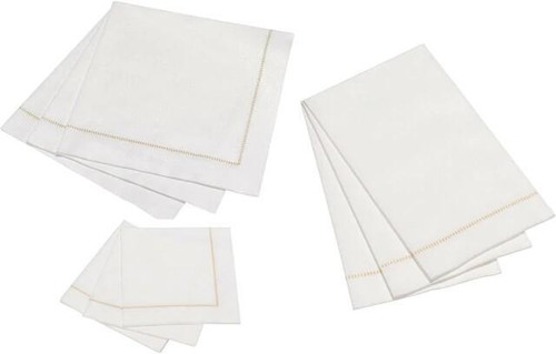 Hemstitch Napkins - Taupe Stitch, 25pcs