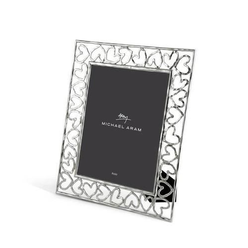 Heart Frame Nickelplate 8x10