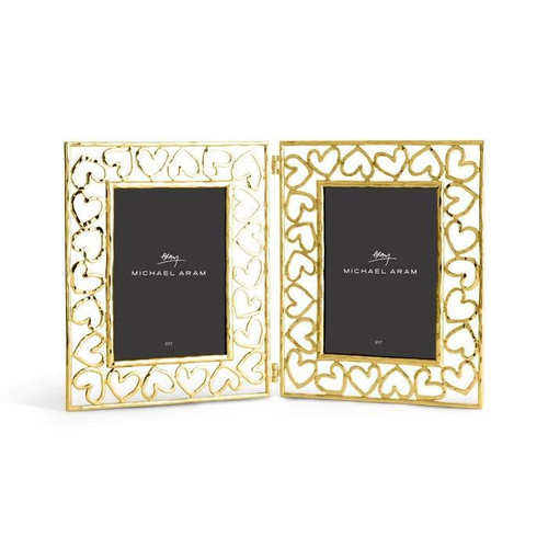 """Heart Hinged Frames 5"""" x 7"""" Gold"""