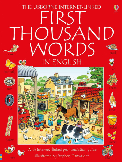 First Thousand Words in English - Usborne