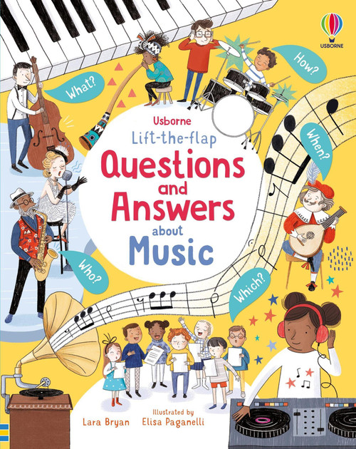 Lift-the-Flap Questions and Answers about Music - Usborne
