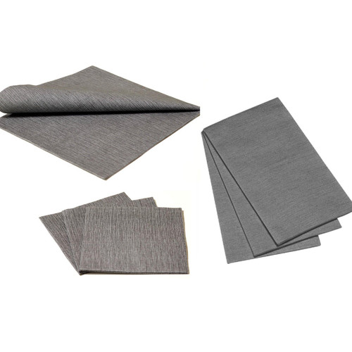 Deluxe Napkins - Dark Grey, 25pcs