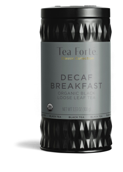 Tea Fortē Decaf Breakfast Organic Black Loose Leaf Tea Canister
