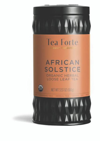 Tea Fortē African Solstice Organic Herbal Loose Leaf Tea Canister