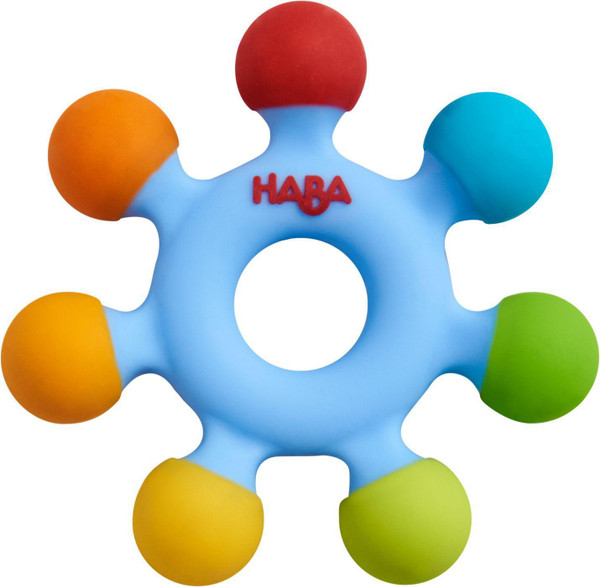 Haba Clutching Toy, Color Wheel Silicone Teether
