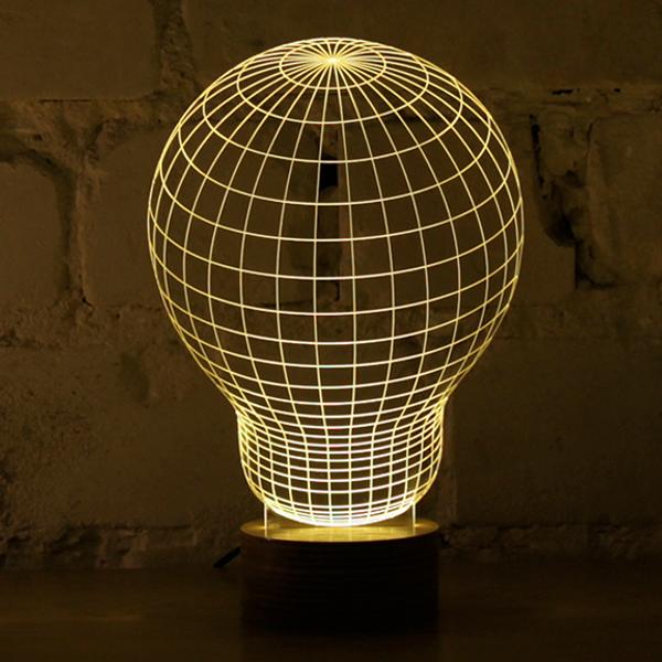 AMEICO Bulbing LED Illusion Lamp