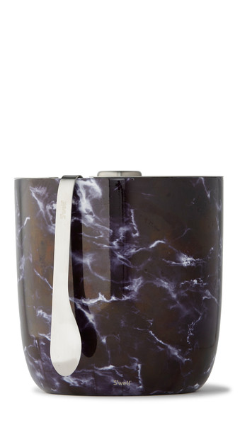 S'well Ice Bucket & Tongs - Black Marble (68 oz)