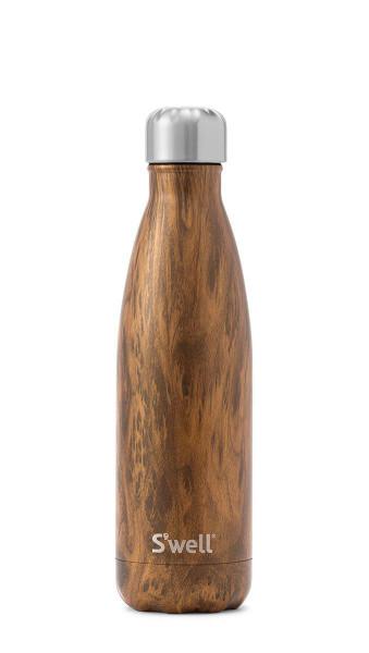 S'well Stainless Steel Water Bottle - Teakwood (17oz)