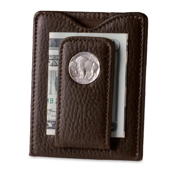Tokens & Icons Buffalo Nickel Money Clip - Brown
