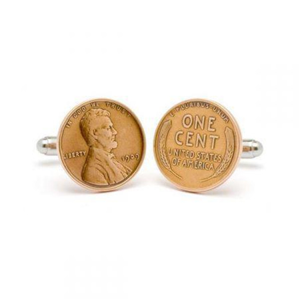 Tokens & Icons Lincoln Penny Cuff Links