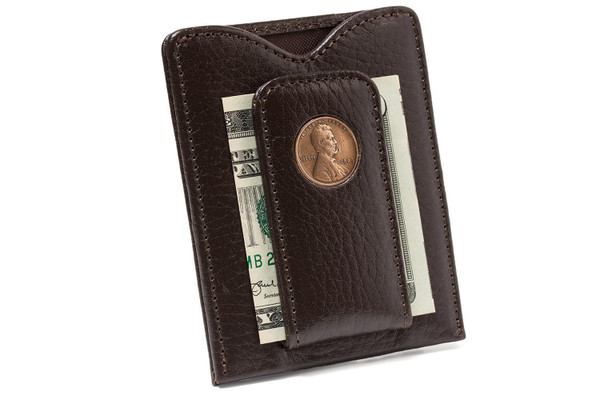 Tokens & Icons Lincoln Penny Money Clip - Brown