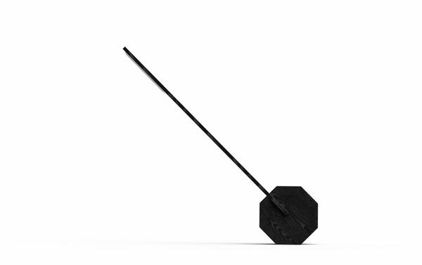 Gingko Octagon One Desk Lamp -  Black