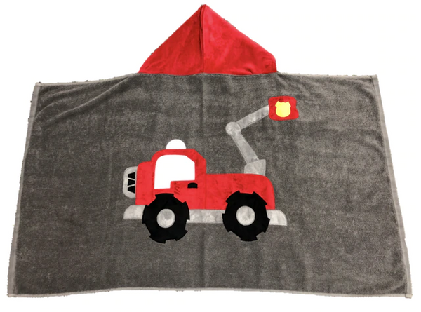KokoBaby Hooded Infant Towel - Fire Truck