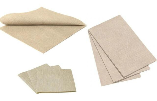 Deluxe Napkins - Taupe, 25pcs