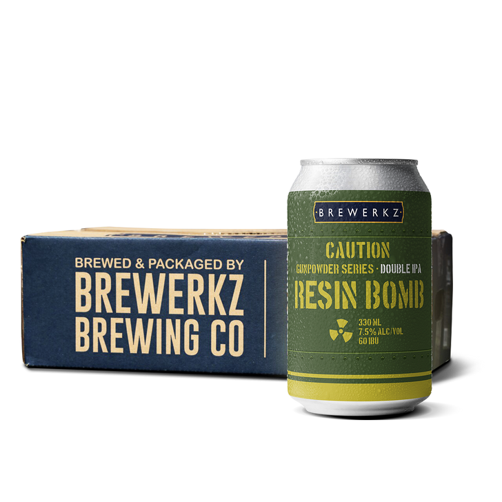 Green Gunpowder Double IPA Series: Resin Bomb - 24 x 330ml