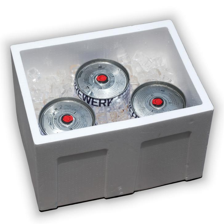 Styrofoam Box with Ice