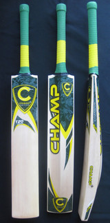 CRICKET BAT T20 CHAMP PREMIUM (MASSIVE EDGE) PLUS THREE FREE RUBBER GRIPS & SCUFF SHEET