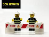 Custom Printed LEGO Fire Signs