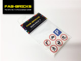 Custom Printed LEGO Road Sign Pack 2