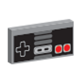 Custom Printed Retro Nintendo Nes Gaming Controller (grey)