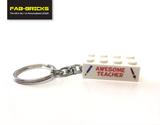 Teacher and Teaching Assistant LEGO Keyrings